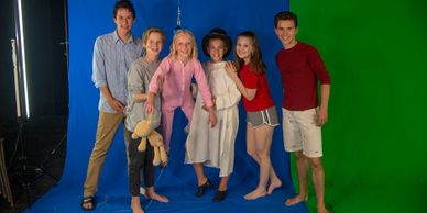 Green Screen, Blue Screen, I'm Flying, Harness, Wendy, Michael, John, Peter Pan, Jr.