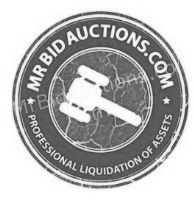 Mr Bid Auction Company Logo in Black and White.
