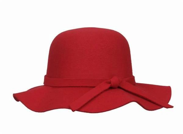 'Coco' floppy hat in red