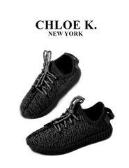 Black 'LUXE' sneaker