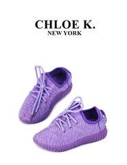 Purple 'LUXE' sneaker