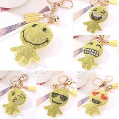 smile person keychains