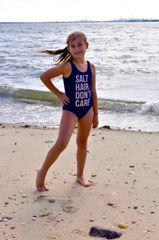 Navy blue bathing suit