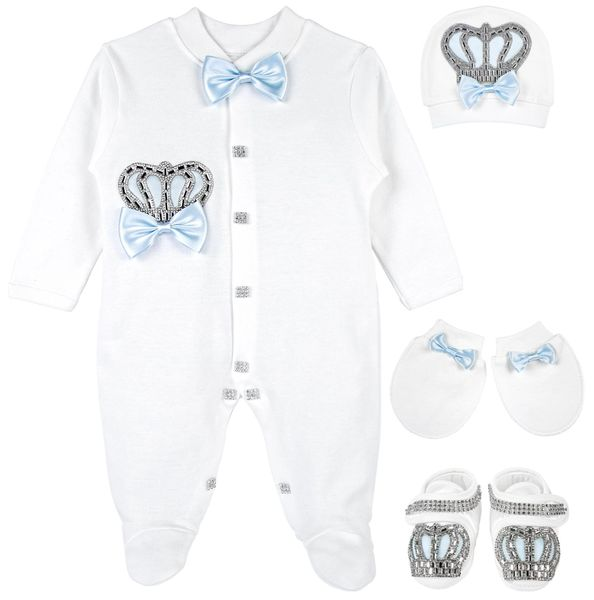 Baby blue crown set