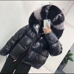 BLACK DOUBLE SIDED PUFFER