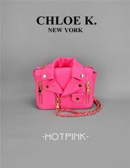 Pink moto bag