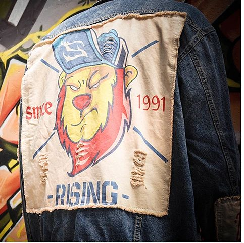 LION!!! Custom Denim Jean Jackets