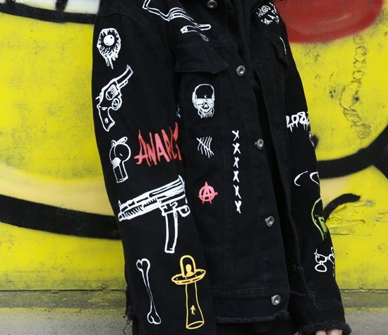 SCHOOL DROP-OUT Custom Denim Jean Jackets