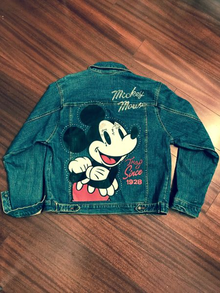 MOUSE TRAP CUSTOM DENIM JEAN JACKET