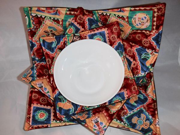 Microwaveable Bowl - South West Patch