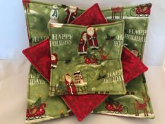 Microwaveable Bowl - Happy Holidays Santa & Snowman