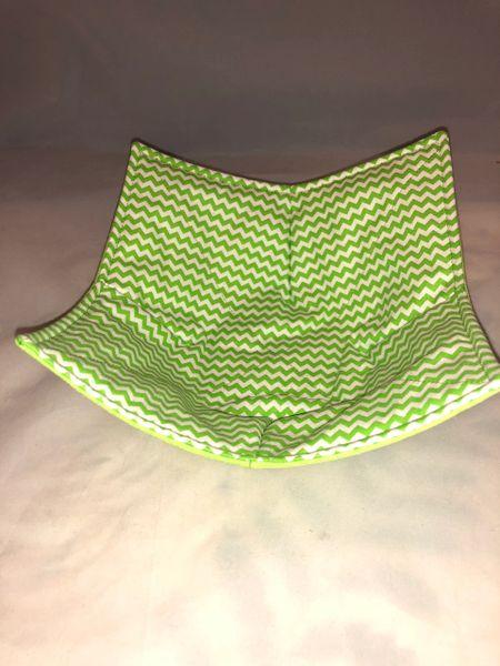 Microwaveable Bowl - LIME GREEN CHEVRON