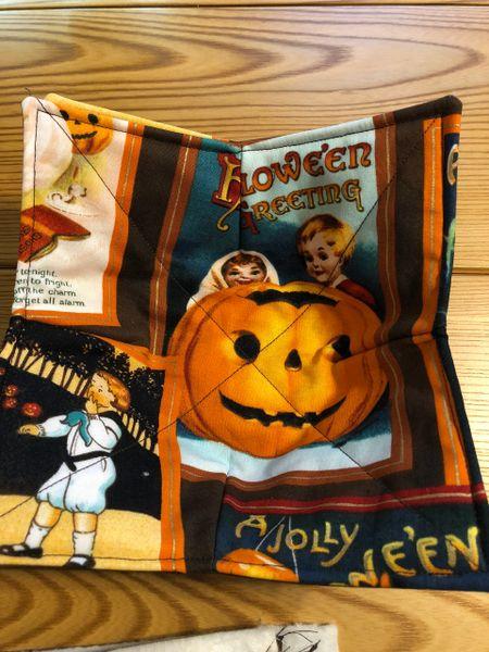 Microwaveable Bowl Cozy- Halloween Retro