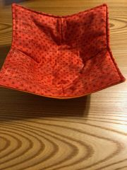 Microwaveable Bowl - Tiny Orange Dots