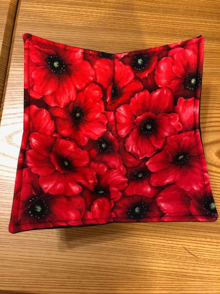 Microwaveable Bowl - Packed Poppies