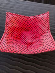Microwaveable Bowl - Black Dots on Red