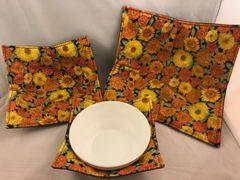 Microwaveable Bowl - Autumn Zenias