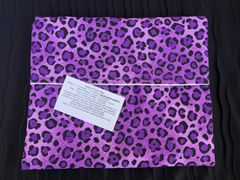 Baked Potato Bag / Purple Animal Print