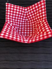 Microwaveable Bowl - Red Checks