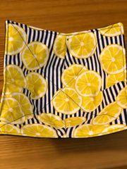 Microwaveable Bowl - Lemons on Blue Stripe