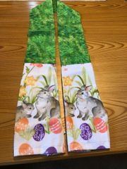 """KITCHEN BOA --BUNNIES AND EGGS - 64"""" LONG"""