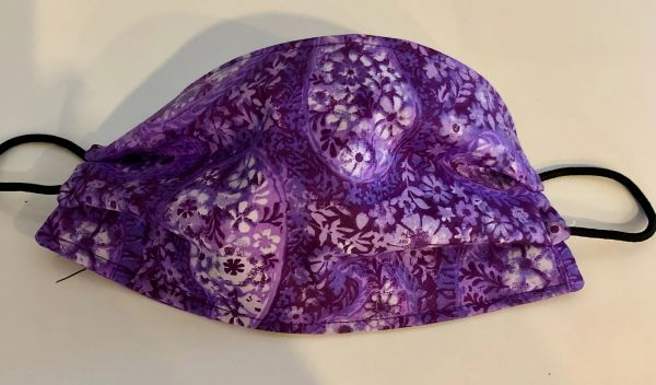 FACE MASK 3 LAYERS -- Purple Floral