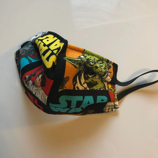 ADULT OR CHILD FACE MASK 3 LAYERS -- STAR WARS