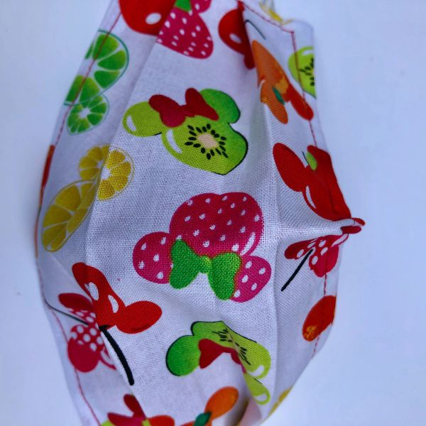 FACE MASK 2 LAYERS -- MICKEY and MINNIE Fruit / ADULT OR CHILD