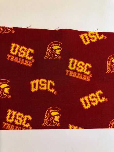 FACE MASK COLLEGE ; USC-- ADULT; Made in and Ships from the USA
