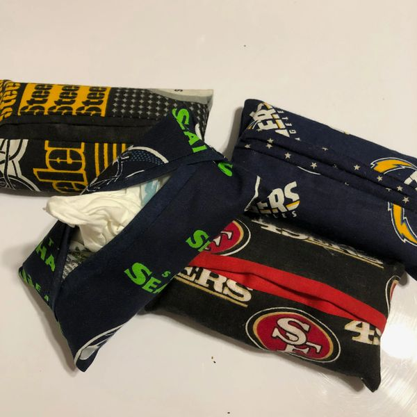 NFL Tissue Holder (with tissues); Choice of teams at checkout.