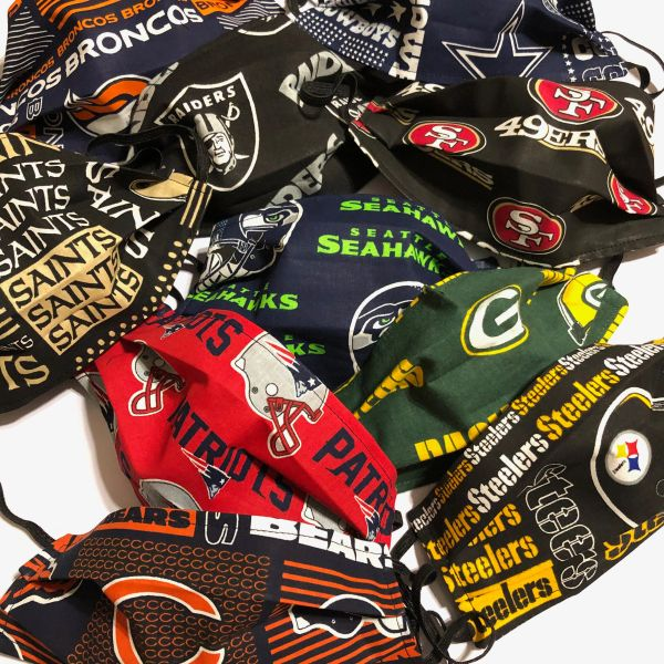 FACE MASK NFL ; Assorted Teams-- ADULT; Made in and Ships from the USA