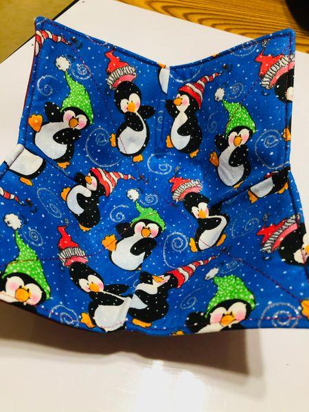 Microwaveable Bowl Cozy- Happy Penguins