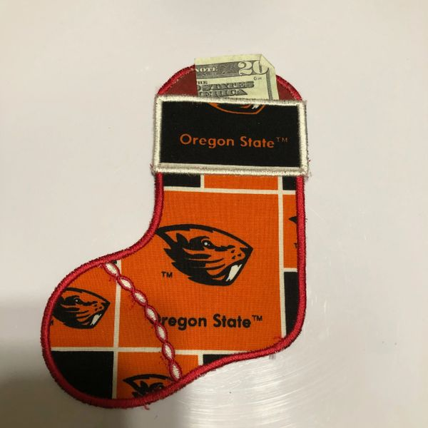 Sports Embroidered Gift Card/Money Holder Stockings
