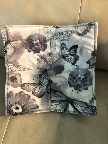 Microwaveable Bowl - Butterflies on Grey