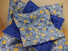 Microwaveable Bowl - Blue and Yellow Floral Set of all three sizes