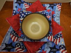 Microwaveable Bowl - Heart be True Patriotic