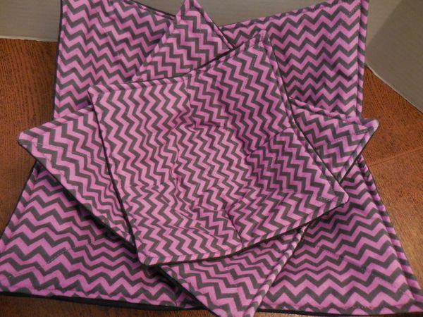 Microwaveable Bowl - Chevron Pink & Grey
