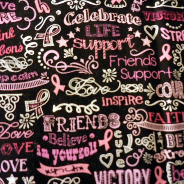 PINK RIBBONS CHALKBOARD Microwave Bowl Cozys