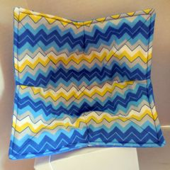 Microwaveable Bowl - Chevron Blue and Yellow