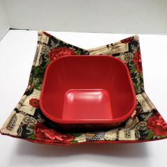 Microwaveable Bowl - Roosters and Roses