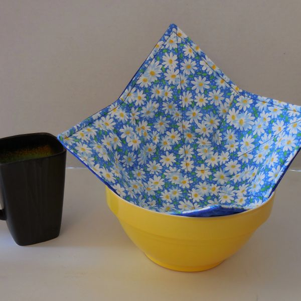 Microwaveable Bowl - Packed Daisy Blue