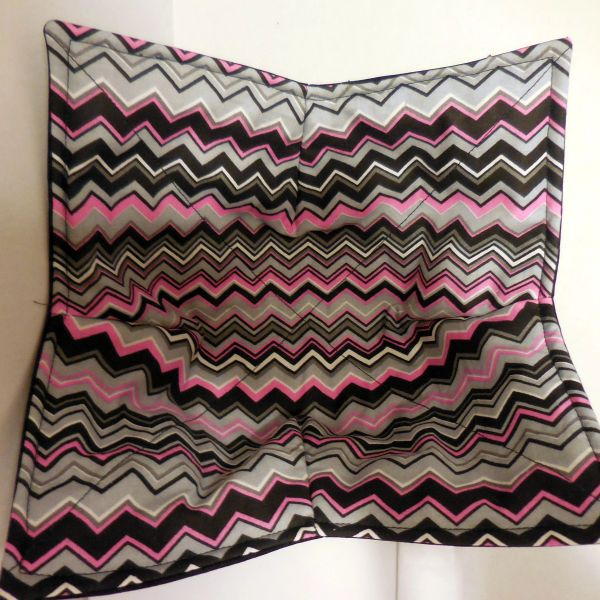 Microwaveable Bowl - Chevron-Pink, Grey and Black / Set of all three sizes