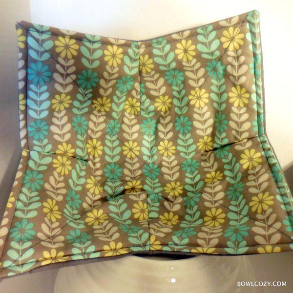Microwaveable Bowl - Floral Stripe