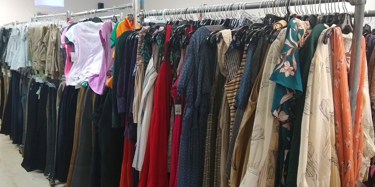 Dresses and other clothing at Bongo's Bargains in Savage