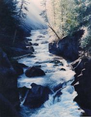 "Sunrise on Elk Creek 30"" x 24"" SOLD"