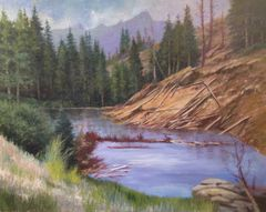Pond on Slumgullion Pass 22x28