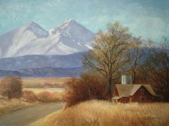 Longs Peak from the Plains 14x18 SOLD