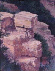 Sunlight on Grand Canyon Rock 10x8