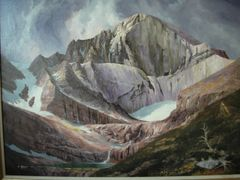 The Diamond Face of Longs Peak - print