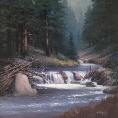 Quiet Moment on Cabin Creek 23x23 SOLD